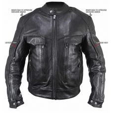 Bandit Buffalo Leather Cruiser Motorcycle Jacke...